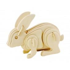 3D деревянный пазл Robotime Домашние животные - Кролик