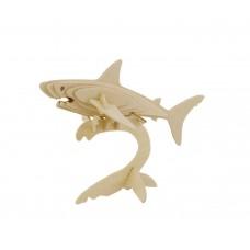 3D деревянный пазл Robotime Морские животные - Акула-2