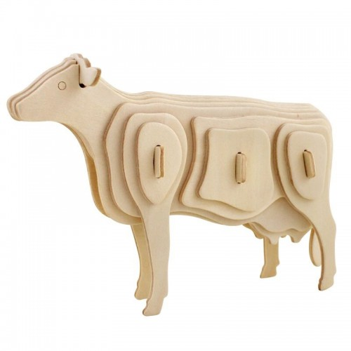 3D деревянный пазл Robotime Домашние животные - Корова
