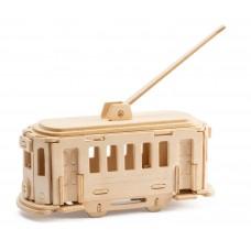 3D деревянный пазл Robotime Транспорт - Троллейбус