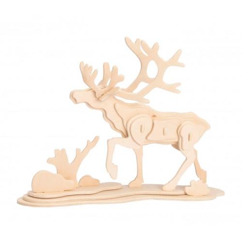 3D деревянный пазл Robotime Дикие животные - Лось
