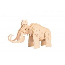 3D деревянный пазл Robotime Дикие животные - Мамонт