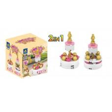 Конструктор Kazi для девочек Golden Princess  - Торт, 16 деталей