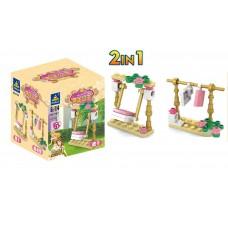 Конструктор Kazi для девочек Golden Princess  - Качель, 22 детали