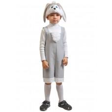 Карнавальный костюм Карнавалофф - Ткань-плюш. Зайчик серый, размер 92-122см