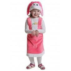 Карнавальный костюм Карнавалофф - Плюш. Заинька розовая, размер 92-122см