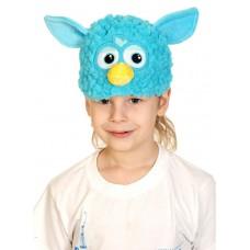 Карнавальная маска-шапка Монстрик бирюза