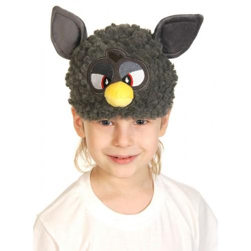 Карнавальная маска-шапка Монстрик графит плюш