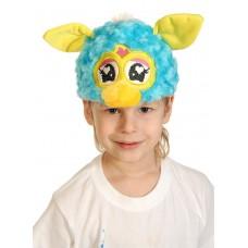 Карнавальная маска-шапка Монстрик бирюза с желтым