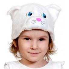 Аксессуары Карнавалофф -  Маска Белая кошечка, размер 53-55см