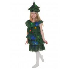 Карнавальный костюм Карнавалофф - Сказки. Елочка светящаяся, размер 116-122см