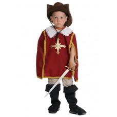 Карнавальный костюм Карнавалофф - Мушкетер красный, размер 128-134см