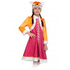 Карнавальный костюм Карнавалофф - Сказочный теремок, Лиса Патрикеевна, размер 98-128см