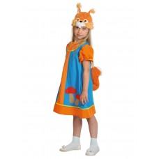 Карнавальный костюм Карнавалофф - Сказочный теремок, Белочка Умелочка, размер 98-128см