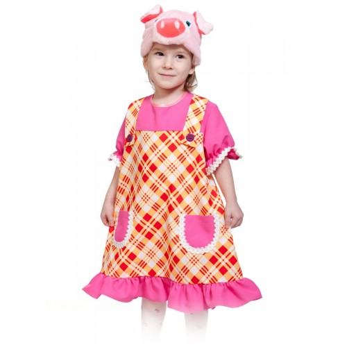 Карнавальный костюм Карнавалофф - Сказочный теремок, Свинка Пинки, размер 98-128см