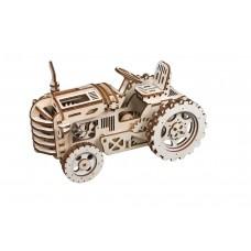 3D деревянный пазл Robotime Механизмы работающие Трактор