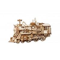 3D деревянный пазл Robotime Механизмы работающие Локомотив