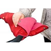 Муфта для рук на коляску ЧУДО-ЧАДО (флис/кнопки) - вишневая