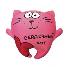 Подушка-антистресс Сердечный Кот, 28 см
