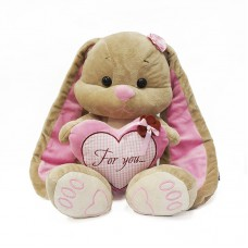 Мягкая игрушка Jack and Lin - Зайка Лин с сердцем, 35 см