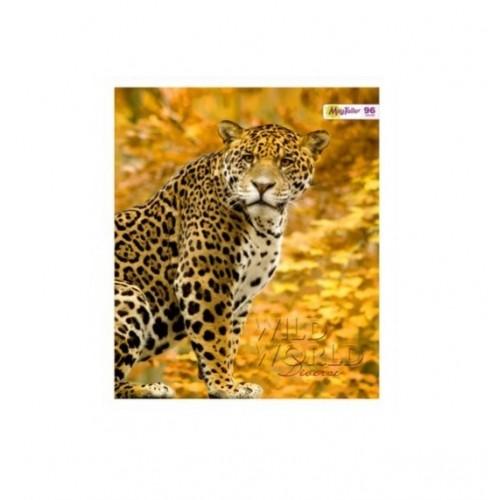 Тетрадь MagTaller А5 96 листов клетка, леопард