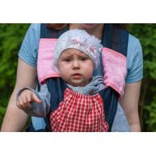 Накладки Чудо-Чадо к слинг-рюкзакам махровые розовые