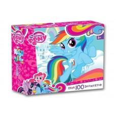 Пазл Оригами - My little pony, голубая лошадка, 100 деталей