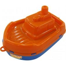 "Кораблик ""Буксир"", оранжево-синий"