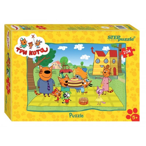 Пазл Step Puzzle - Три кота, 104 детали
