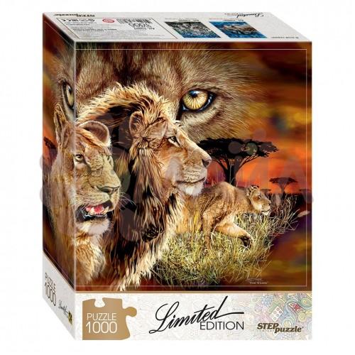 Пазл Step Puzzle - Найди 10 львов, 1000 деталей