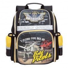 Рюкзак Grizzly черный-желтый