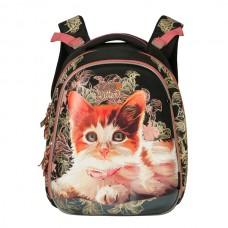 Рюкзак Grizzly черный - розовый