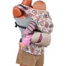 """Слинг-рюкзак Чудо-чадо """"Бебимобиль Стиль"""" бежевый пейсли"""