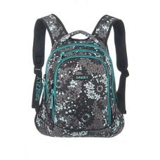 Рюкзак Grizzly звезды серый - бирюза