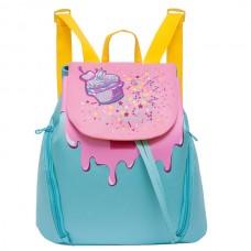 Рюкзак Grizzly голубой - розовый