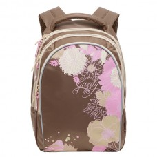 Рюкзак Grizzly бежевый-розовый