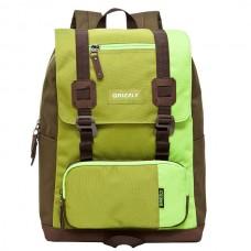 Рюкзак Grizzly зеленый-коричневый