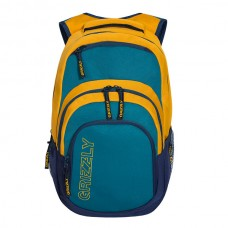 Рюкзак Grizzly желтый-синий