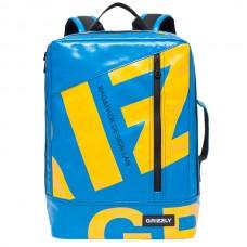 Рюкзак Grizzly голубой-желтый