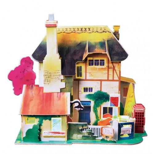 3D деревянный пазл Robotime Серия Дома - Английская хижина