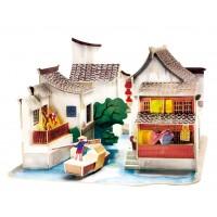 3D деревянный пазл Robotime Серия Дома - Юг Китая