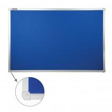 Доска c текстильным покрытием Brauberg для объявлений, синяя, 60*90 см