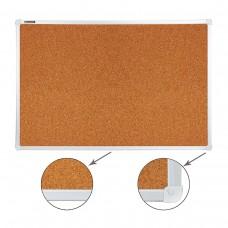 Доска пробковая Brauberg для объявлений, улучшенная алюминиевая рамка, 60*90 см