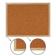 Доска пробковая Brauberg для объявлений, деревянная рамка, 45*60 см