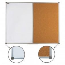 Доска комбинированная: магнитно-маркерная, пробковая Brauberg для объявлений, 90*120 см