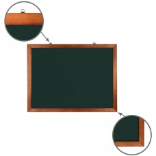 Доска для мела магнитная Brauberg, зеленая, деревянная рамка, 60*90 см