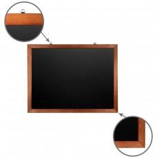 Доска для мела магнитная Brauberg, черная, деревянная рамка, 60*90 см