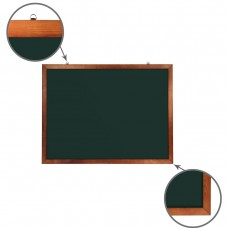 Доска для мела магнитная Brauberg, зеленая, деревянная рамка, 90*120 см