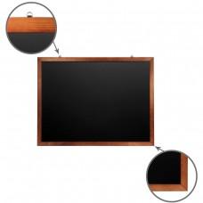 Доска для мела магнитная Brauberg, черная, деревянная рамка, 90*120 см
