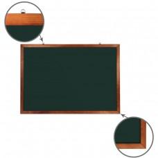 Доска для мела магнитная Brauberg, зеленая, деревянная рамка, 100*150 см